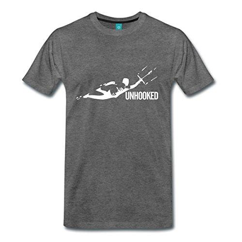 Kitesurfing Unhooked Männer Premium T-Shirt von Spreadshirt®, L, Anthrazit