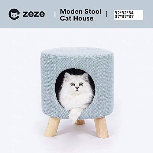 ZEZE Stool Cat Nest Cat Condo Ottoman Cat House Cat Tree Pet Toy Dog Kennel Stool Nest