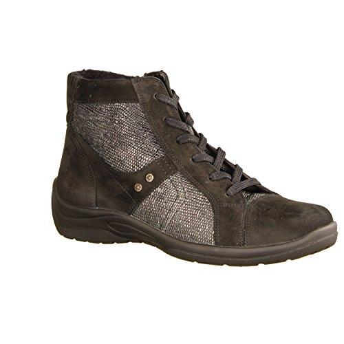 Chaussures Lacets Femme de pour Noir à Waldläufer Ville Noir POZwnd