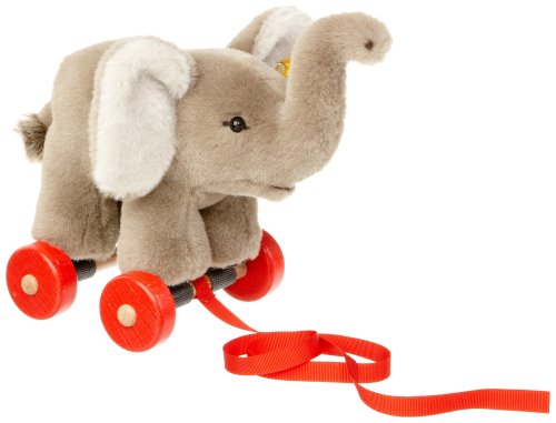 Steiff Pull-Along animal Trampili elephant , ()