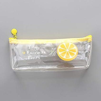 JNBFLB Estuche 1 caja de lápices de frutas transparente de ...