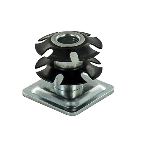 Outwater Square Double Star Metal Caster Insert with Thread DS71-365. Thread: 5/16-18, Outside Diameter of Tube: 1-1/8