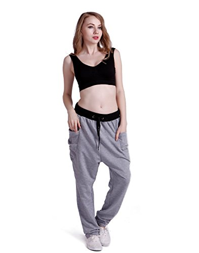 HDE Womens Elastic Sweatpants Pockets