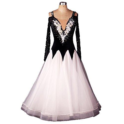 Ballroom Dance Dresses Long Sleeve Practise Dance Competition Dresses Modern Waltz Tango Smooth Ballroom Dance Costumes For Women Flamenco Dresses Showcase Dance (Sexy Ballroom Dress)