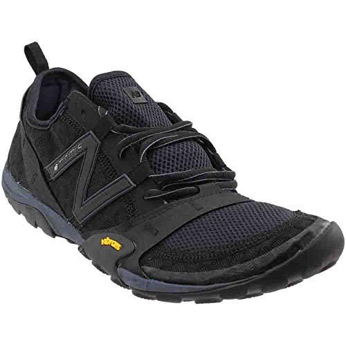 New Balance Men's Minimus 10v1 Trail Running Shoe,Black/Silver,US 10 D