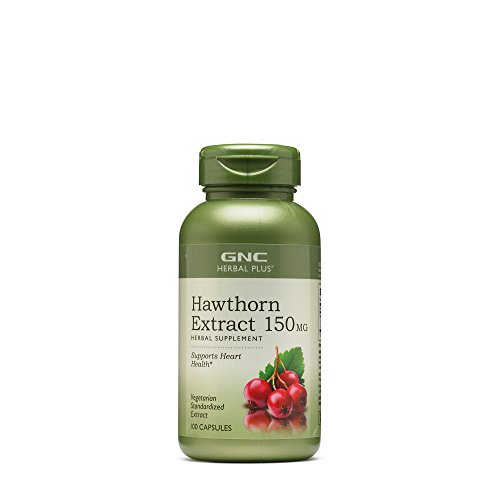 (GNC Herbal Plus Hawthorn Extract 150mg, 100 Capsules, Supports Heart)
