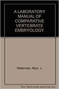Vertebrate embryology a laboratory manual pdf