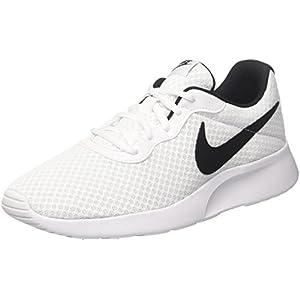 Nike Men's Tanjun Running Sneaker White/Black10.5