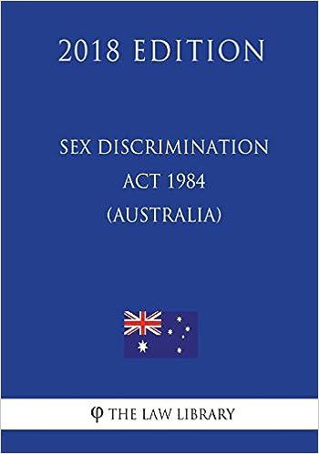 Sex discrimination act in australia