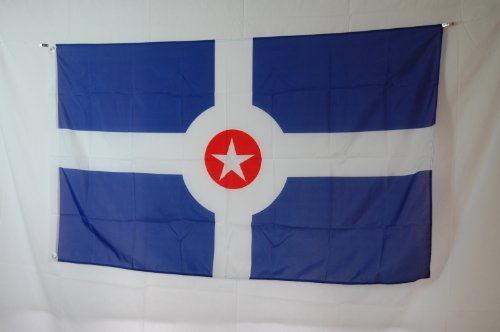 Indianapolis Flag (City of Indianapolis Indiana State 3x5 Flag Banner)