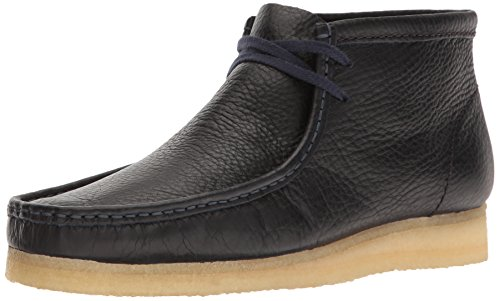 Zapato Clarks Wallabee Navy Tumbled Leather