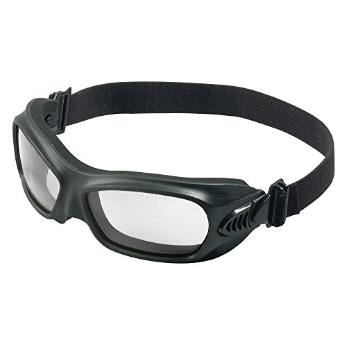 921 Glasses (Jackson Safety Wildcat Safety Goggles (20525), Heat Resistant, Clear Anti-Fog Lens, Flexible Wraparound Black Frame - Pack of 12)