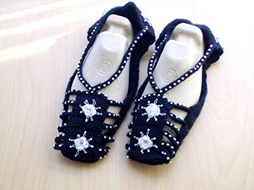 0a87d7348cde8 Amazon.com: Crochet Slipper Socks, Womens Slippers, Crochet Slippers ...