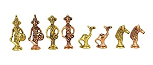 Handmade Brass Antique Chess Pieces-Without Board-Chess Pieces Only
