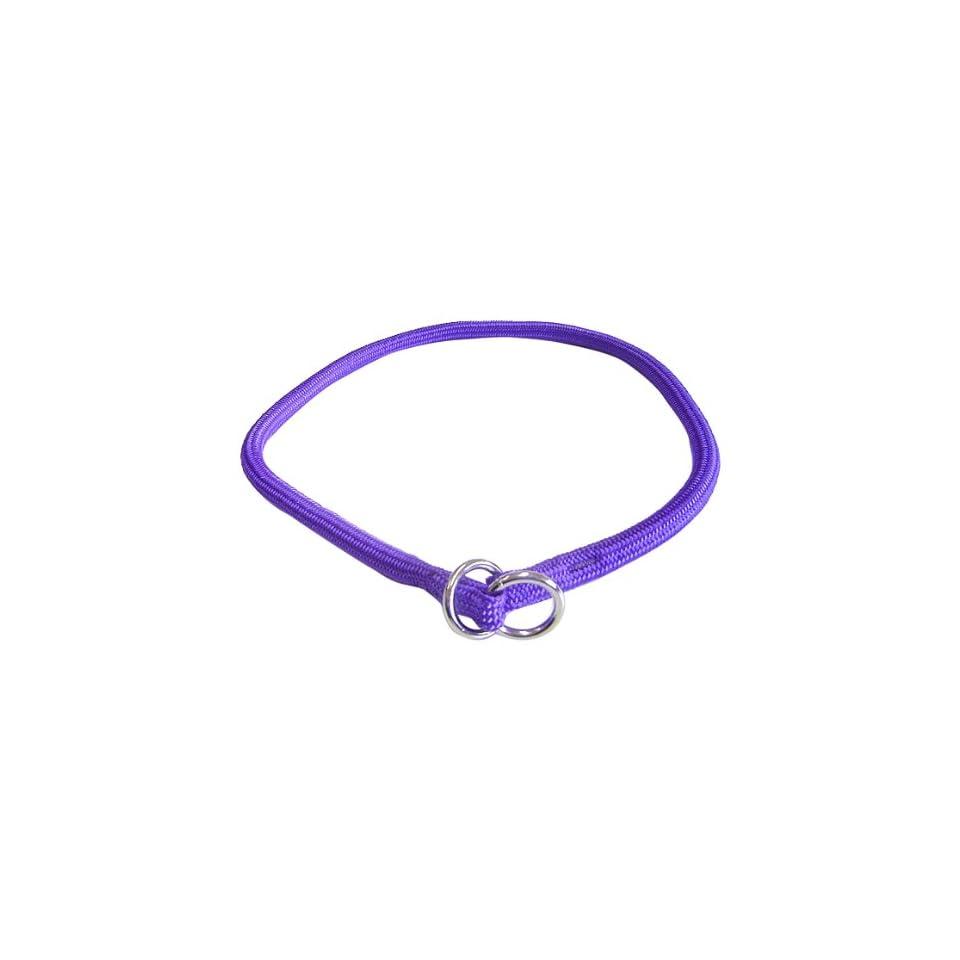 Hamilton 3/8 Inch x 26 Inch Round Braided Choke Nylon Dog Collar, Purple (832 PU)