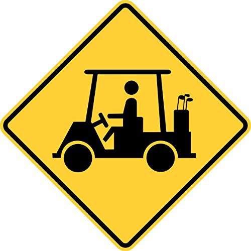 Traffic Signs - Golf cart Crossing Heavy Duty 12 x 18 Magnet Sign Street Weather Approved Sign