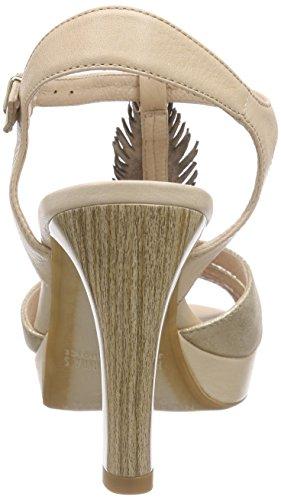 Hispanitas Toulouse - Sandalias de Talón Abierto Mujer Dorado - Gold (MAGIC-V6 MEKONG SAUVAGE-V6 ECRU)