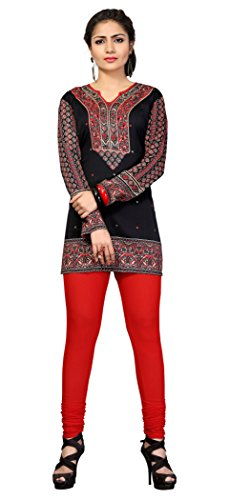 Indian Tunic Top Womens Kurti Printed Blouse India Clothing – Large, T 218