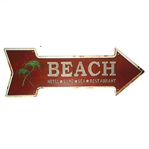kjkjere Eletina ringet Outdoor Shop Sign , Dl Beach Motel Sea Restaurant Classic Arrow Indicator Bar Cafe Shop Vintage Bourbon Sign, Bourbon Metal Signs (Cafe Bourbon Street)