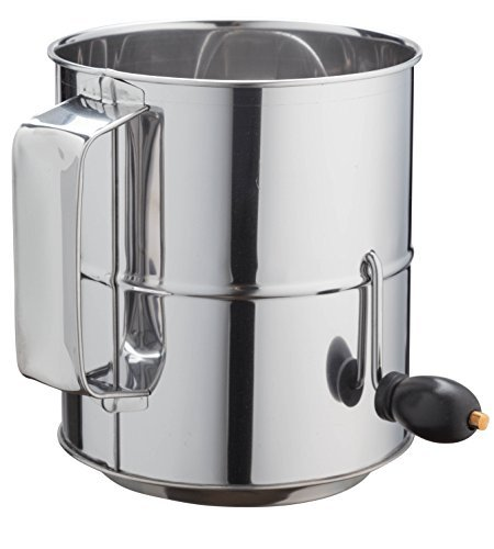 Kitchen Winners 8 Cup Crank Stainless Steel Flour Sifter by by Kitchen Winners