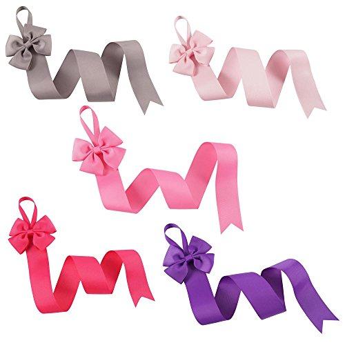 CN 5pcs Grosgrain Ribbon Hair Bow Holder Organizer Hair Clip Storage 3 Feet ()