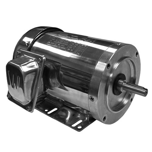 Worldwide Electric WSS34-18-56CB Stainless Steel/Washdown Duty Motors Three-Phase - TEFC Enclosure - C-Face, 3/4 hp, 1800 RPM, 56C Frame, 208-230/460 Voltage, 1Amp, Rigid ()