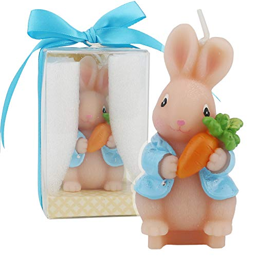 TinaWood Cute Bunny Birthday Candle, Smokeless Cake Candles Home-Made Cake Topper, Great Decoration for Home Party, Easter, Children's Day
