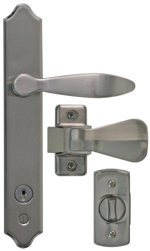 Ideal Security Inc. SK1215SC Deluxe Storm Door Handle Set with Deadbolt, Satin Chrome