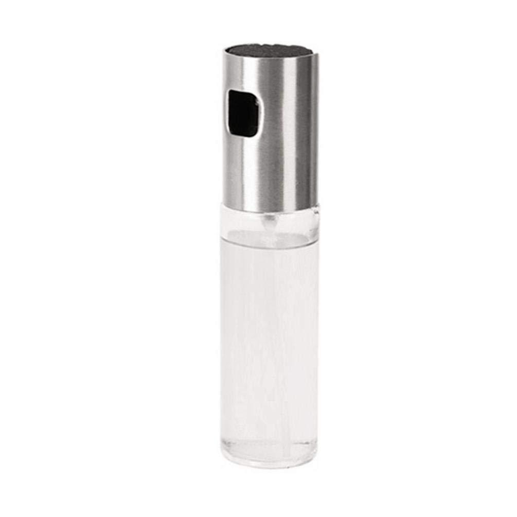 Fenebort 100ml Capacity Oil Sprayer Glass Bottle, Food-Grade Cooking Spray, Oil Mister Oil Dispenser for BBQ, Frying, Salad,Baking, with Cleaning Brush