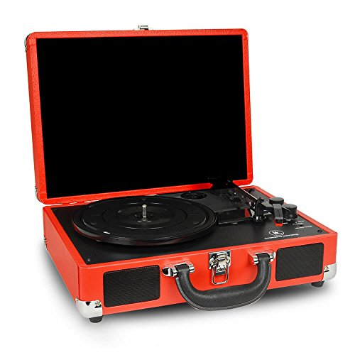 portable suitcase turntable