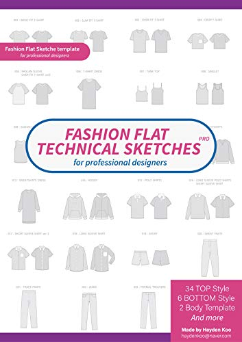 Fashion flat technical drawing: Digital Image For A Fashion Designer by Adobe - For Designers Fashion Illustrator