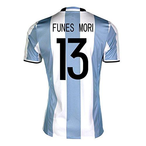 割合パンダスピリチュアルadidas Funes Mori #13 Argentina Home Soccer Jersey Copa America Centenario 2016 YOUTH/サッカーユニフォーム アルゼンチン ホーム用 フネス?モリ ジュニア向け