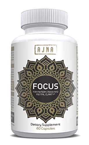 Natural Nootropic Supplements | High Quality Memory Booster Supplement | 60 Natural Capsule Nootropics | Concentration Pill | Focus & Cognitive Enhancers by Ajna Wellbeing | Proprietary Blend