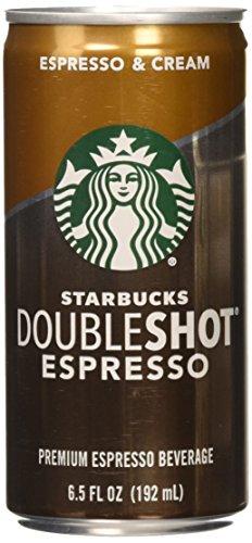Starbucks Doubleshot, Espresso + Cream, 6.5 Ounce, 12 Pack by Starbucks