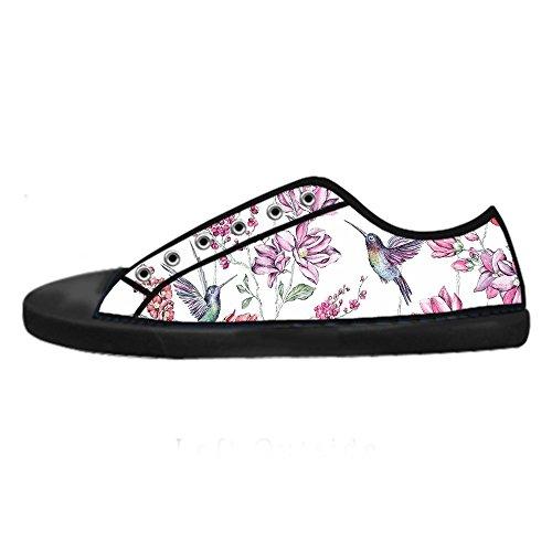 Alto Custom Le Tela Shoes Sopra Scarpe Di Canvas Men's Da Delle Lacci I Hummingbird In Ginnastica pwPprz