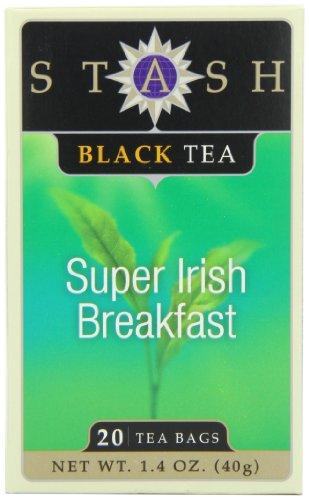 Stash Tea Super Irish Breakfast Black Tea, 20 Count Tea Bags in Foil (Pack of 6) (Pack 6 Super Bag)