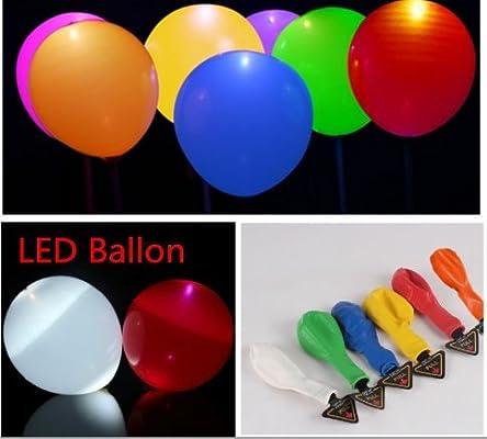 Juego de 30 globos LED iluminadas iluminación balón hinchable para ...