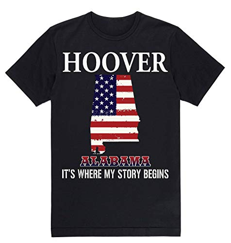 Independence Day Shirt - Hoover Alabama AL It's Where My Story Begins Black