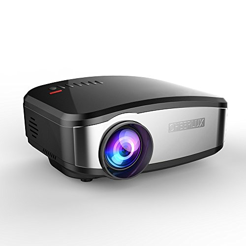 Cheerlux C6 Mini Projector Support WiFi Wireless Airplay, Screen Share with HDMI USB for Home Theater,TV ()