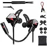 Free Wolf Audífonos Gamer InEar, Auriculares Gaming con Cable, con micrófono Dual Desmontable, para Juegos móviles, Compatibl