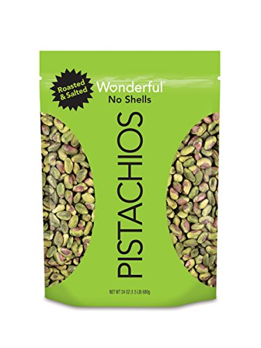 Wonderful Pistachios, No-Shell, Roasted and Salted, 24 Ounce Bag