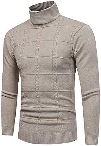 Chloefairy - Jersey de Cuello Alto de algodón para Hombre, diseño de Cuello Alto: Amazon.es: Ropa y accesorios