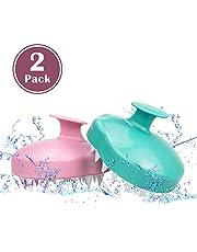 2 Pack Scalp Massager Scalp Brusher Shampoo Brush Soft Silicone Comb for Women Man Head Massage Scalp Care Deep Hair Clean Stress Relief