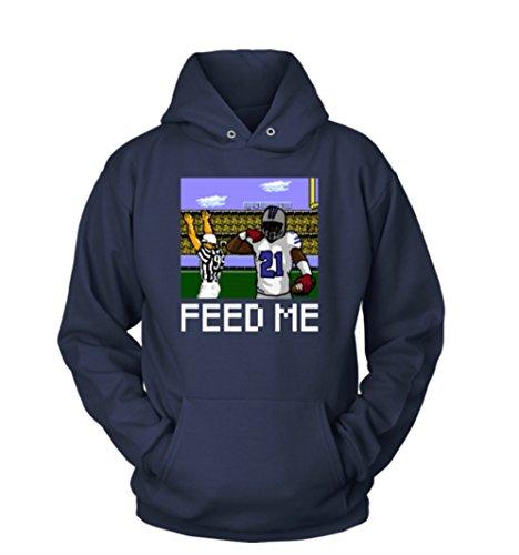Ezekiel Elliott Dallas Cowboys Feed Me Hoodie (Small, Navy Blue)