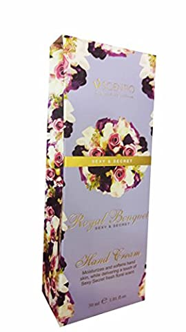 2 packs of SCENTIO Royal Bouquet Sexy & Secret Hand Cream. Moisturizes and softens hand skin, While delivering a touch of Sexy Secret fresh floral scent. (1.01 fl.oz./ pack)