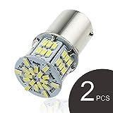 #9: GOSMY 1157 LED Bulb BAY15D P21/5W lights Car Reverse Rear Turn Signal Parking Light 54 SMD 3014 6000K 12V-24V White Lamp (White 1157)