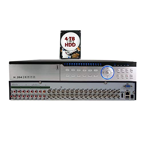 Evertech 32 Channel H.264 Standalone DVR Recorder 4-in1 HD for TVI AHD CVI and Analog Cameras and Security Surveillance Systems with 4TB