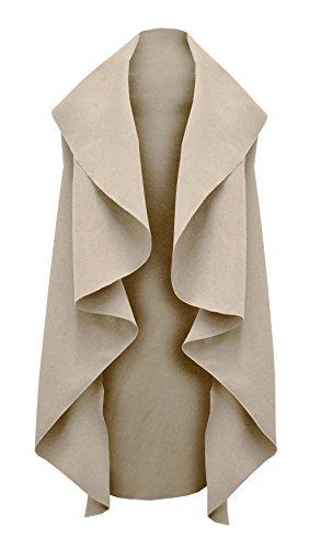 ambra donna cinturato con non cinturino maniche cappotti lunghi per per stile Cappotto senza AqY5TB