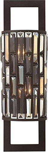 Fredrick Ramond Crystal Sconce (Fredrick Ramond FR33730VBZ, Gemma Crystal Wall Sconce Lighting, 2 Light, 40 Watts,)