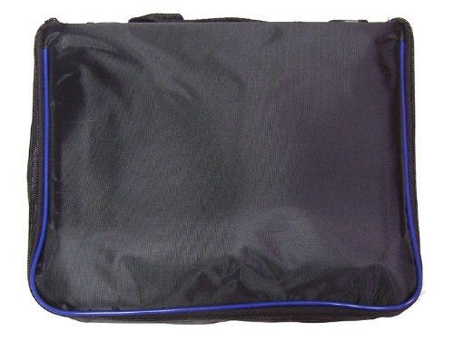 l Pin Bag - 5 Page Black w/ Blue Piping ()